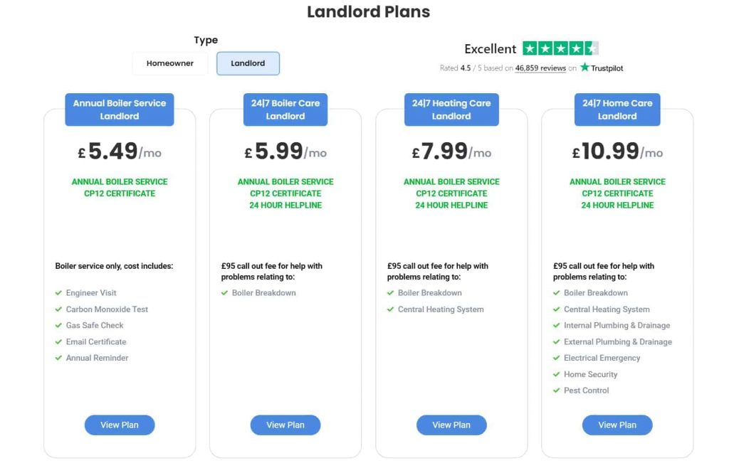 landlord plans w 247homerescue