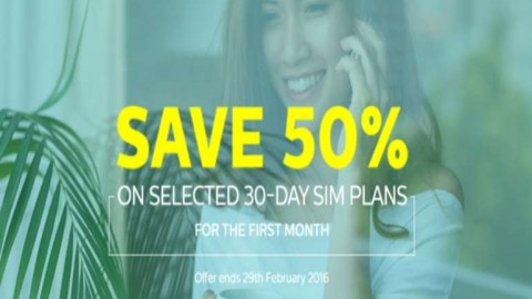 GET 50% OFF SELECTED TPO SIM ONLY PLANS
