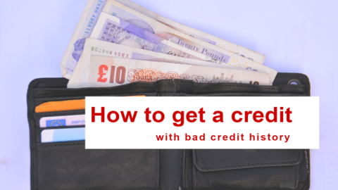 How to get a credit with bad credit history