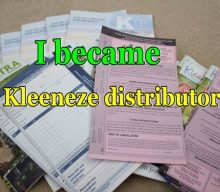 I became a Kleeneze distributor