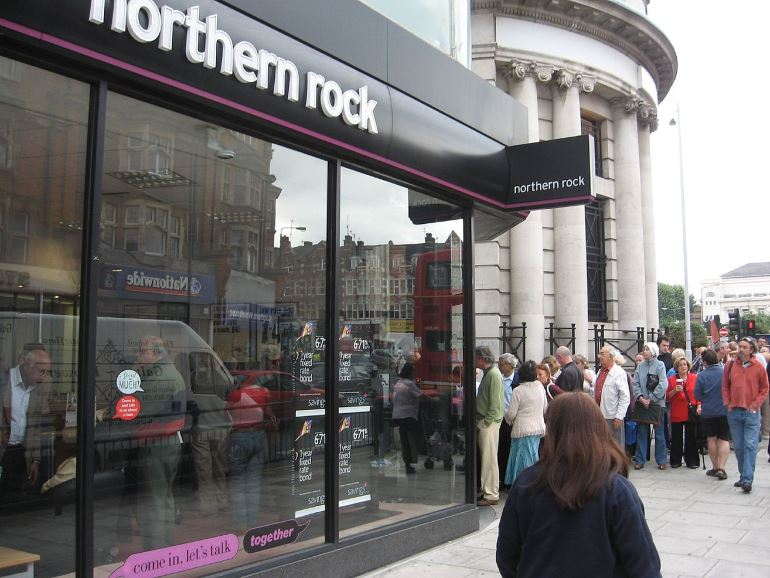 Northern Rock Customers September 14 2007