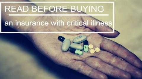 Read before buying an insurance with critical illness